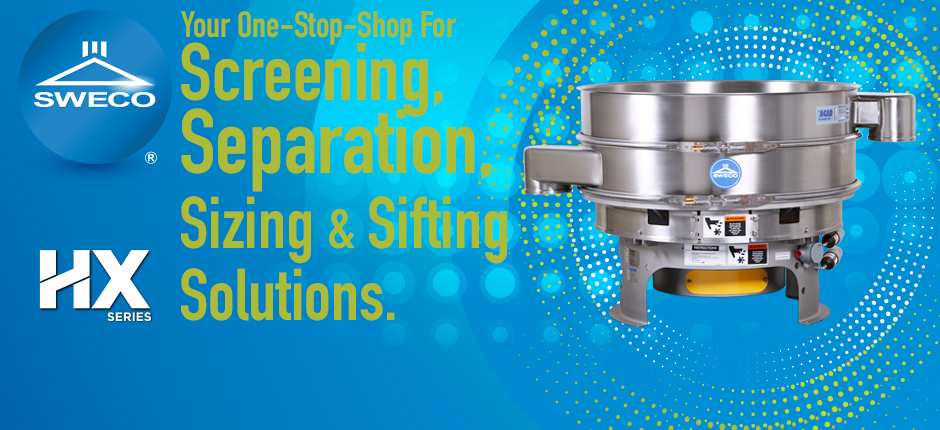 SWECO, manufacturer of industrial screens and sifting equipment